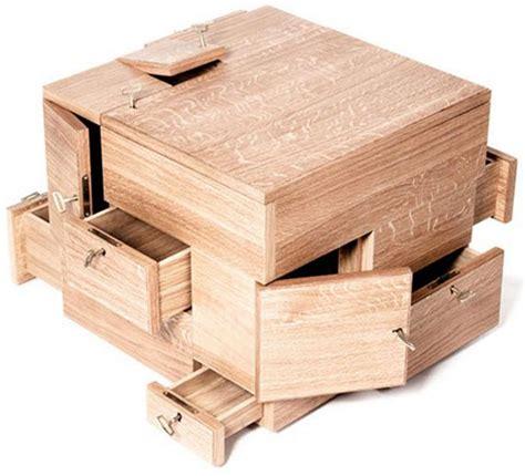 Handcrafted Hardwood Storage Puzzle Box - shrine storage cube most awesome confusing storage box