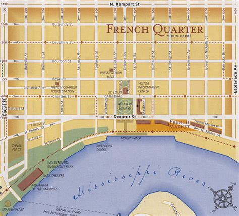 printable quarter collection map french quarter onde comer e passear em new orleans