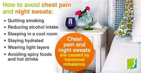 carbohydrates sweats chest and sweats