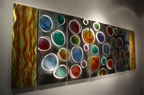 Rainbow Wall Decor by Wilmos Kovacs Quot Xl Quot Abstract Painting On Metal Sculpture