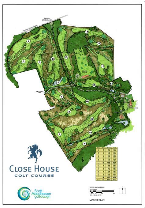 golf course house plans plans scott macpherson golf design