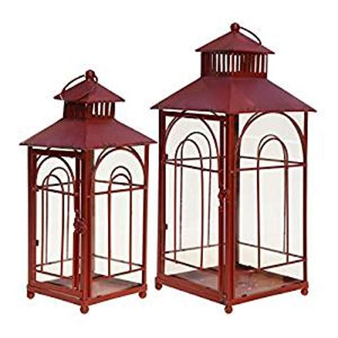 vip home decor vip home garden 2 pc pillar candle lanterns with glass panes outdoor