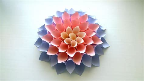 huge paper flower tutorial diy giant paper flower tutorial my crafts and diy projects