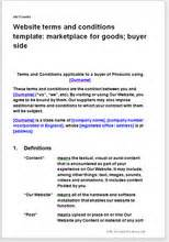 terms and conditions template nz website t c template marketplace for goods buyer terms