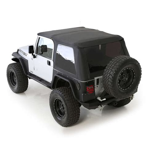 jeep wrangler open top 1997 06 wrangler bowless soft top with tinted windows