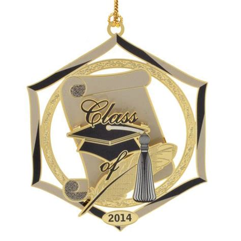 2014 chemart graduation brass christmas ornament