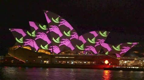 House Architectural Styles projection mapped cartoons run wild on the sydney opera