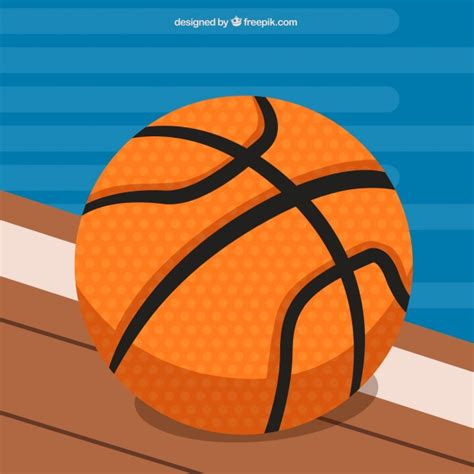 background design basketball basketball ball background in flat design vector free