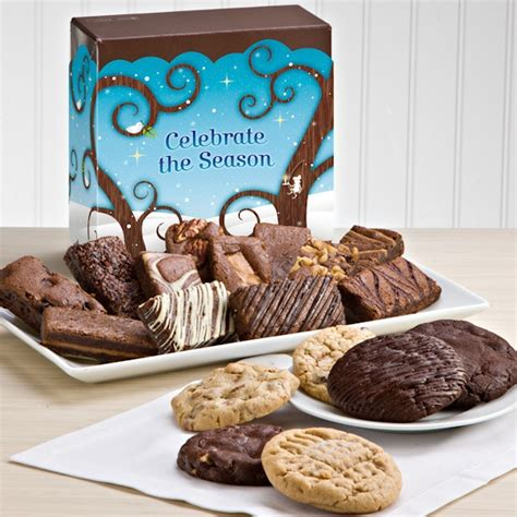 Celebrate The Season With Chocolate by Celebrate The Season Brownie Cookie Combo Gift Baskets
