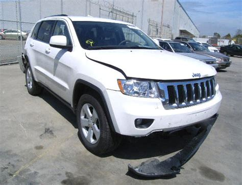 wrecked white jeep grand wrecked cars for sale salvage cars trucks and