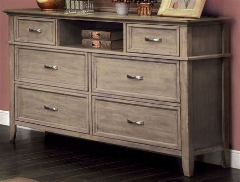 Weathered Oak Dresser by Loxley Weathered Oak Dresser Cm7351d Furniture Of America
