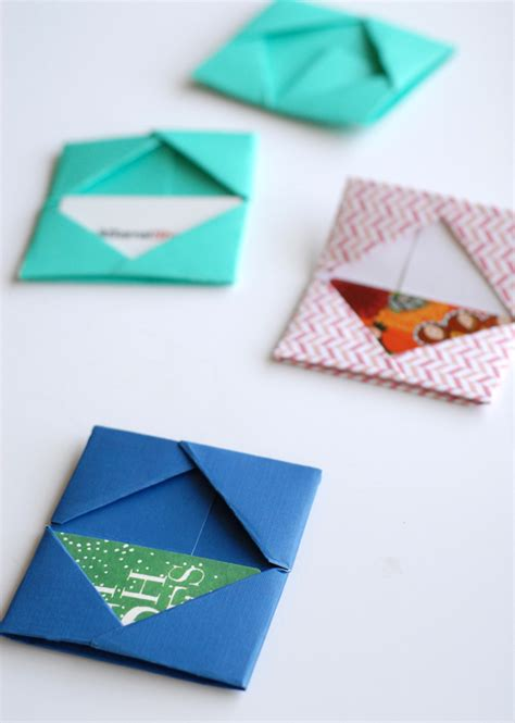 Origami Card Holder - paper folded gift card holders a subtle revelry