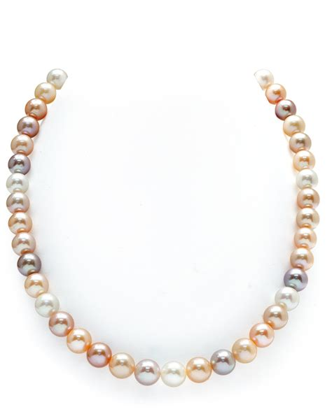 9 10mm freshwater multicolor pearl necklace aaaa quality