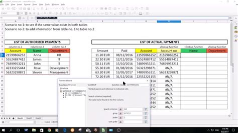 vlookup tutorial openoffice vlookup function in spreadsheet in libre open office