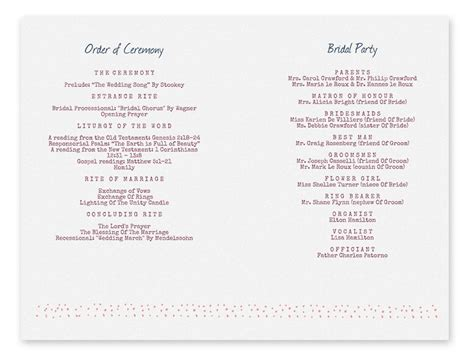 printable wedding program templates search results for free wedding program templates