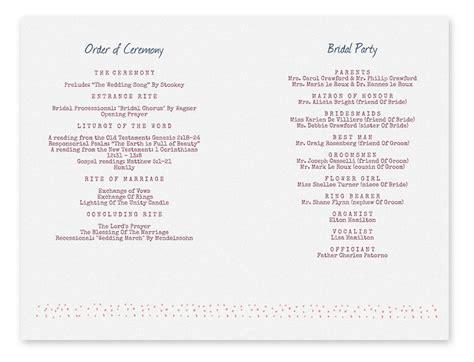Template For Wedding Programs   Joy Studio Design Gallery
