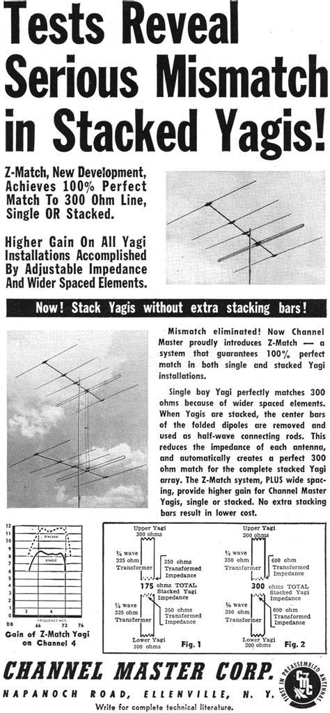 channel master yagi antenna ad october  radio television news rf cafe