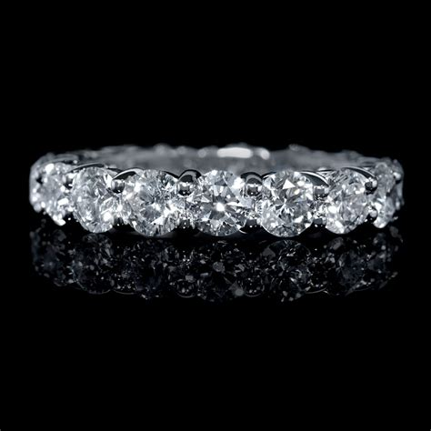3 26ct platinum eternity wedding band ring