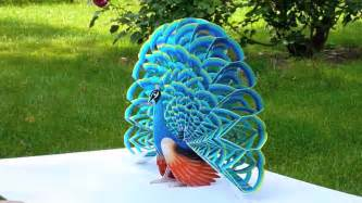 How To Make A 3d Peacock Out Of Paper - paper pop up peacock