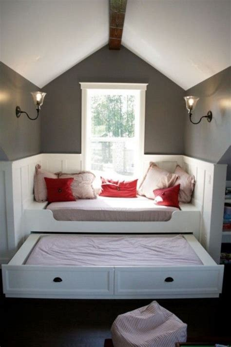 great idea  window seat bed  pull  home