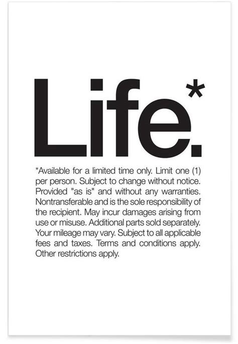 design lifetime definition life black as premium poster by words brand juniqe