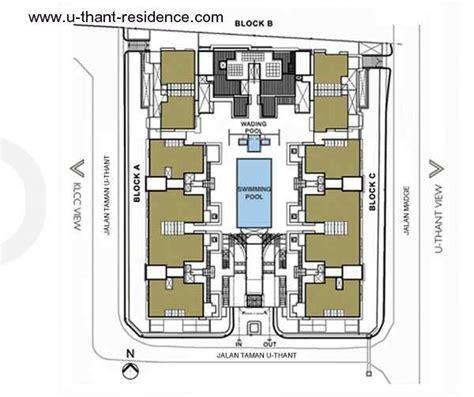Dua Residency Floor Plan U Thant Residence Properties Kuala Lumpur City