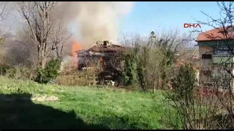 bartın da 2 katlı ev yandı