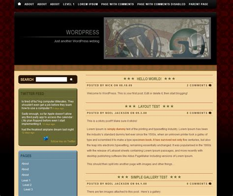 themes wordpress vintage free wordpress theme directory 171 free wordpress themes