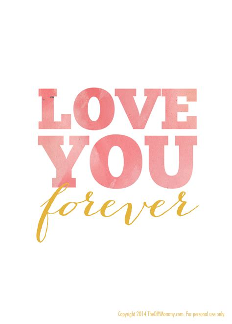 printable nursery quotes love you forever free nursery printable art by the diy