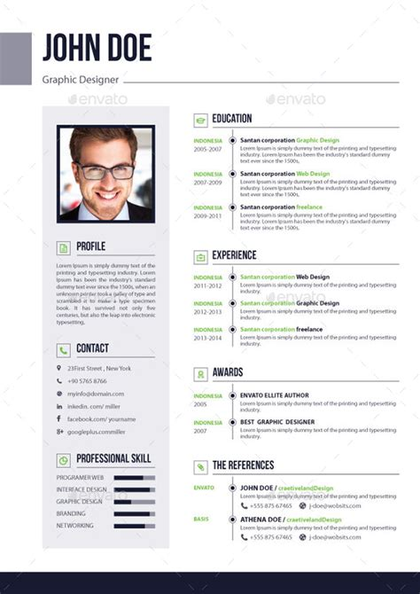 Resume Pages by 3 Pages Resume Cv V 02 By Elitegraphic Graphicriver