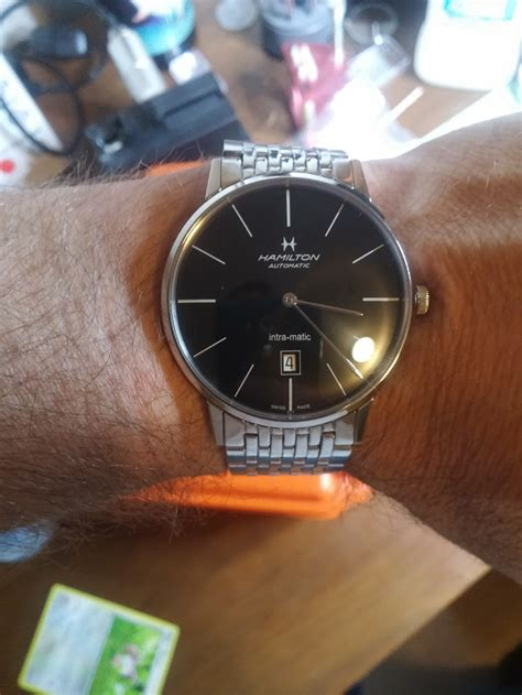 Tissot Matic 4 us hamilton intra matic american classic series 42mm black stainless band like new