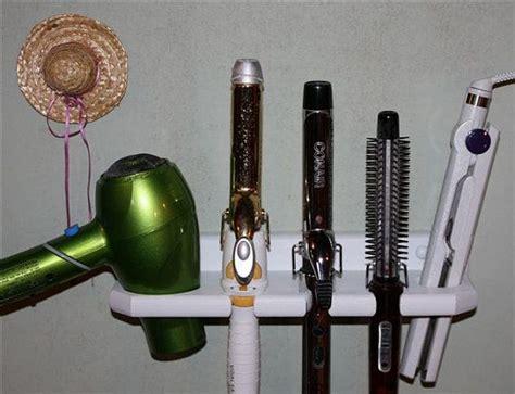 Hair Dryer And Straightener Organizer bathroom organizer hair dryer straightener curling