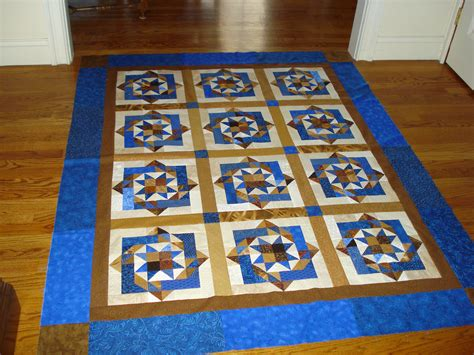 Brown Blue Quilt by Blue Brown Quilt