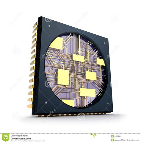 what does the inside of an integrated circuit look like cpu inside the chip concept stock image image 29539411