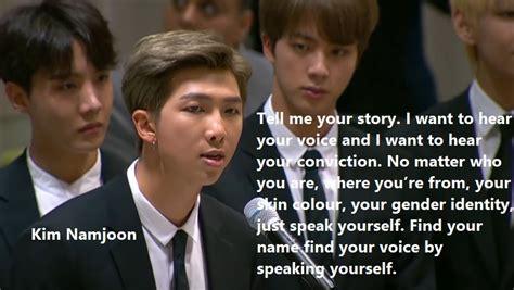 kim namjoon un speech unicef kim namjoon bts speech united nations lybio net