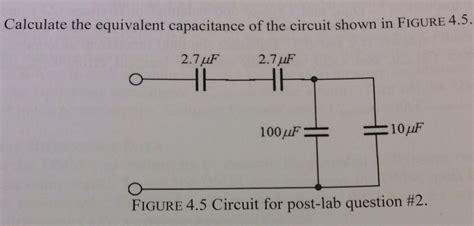 calculate capacitor q calculate the equivalent capacitance of the circui chegg