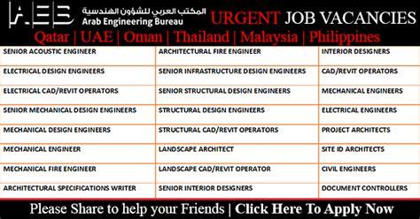design engineer job vacancy in malaysia arab engineering bureau aeb job vacancies qatar uae
