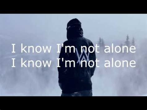 alan walker i m not alone alone alan walker hd lyrics youtube