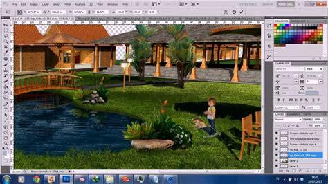 photoshop landscape layout landscape architecture rendering photoshop timelapse