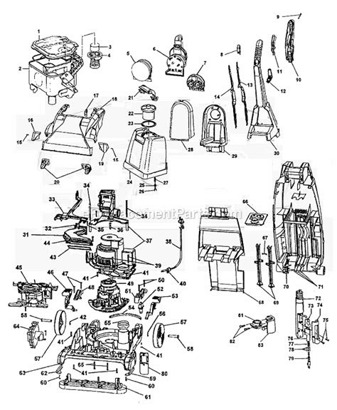 hoover steamvac parts diagram hoover f6024 900 parts list and diagram