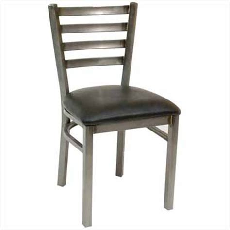 ats clear coat ladder back metal restaurant chair 77c