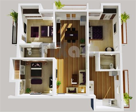 3 Bedrooms House by 3 Bedroom Apartment House Plans