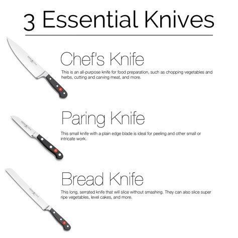 must have kitchen knives three must have kitchen knives