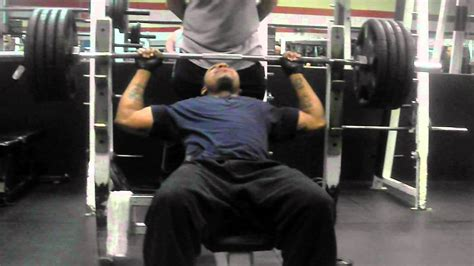 maurice bench press 425 pounds youtube