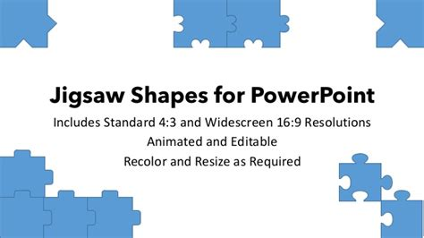Jigsaw Shapes For Powerpoint Jigsaw Image For Powerpoint