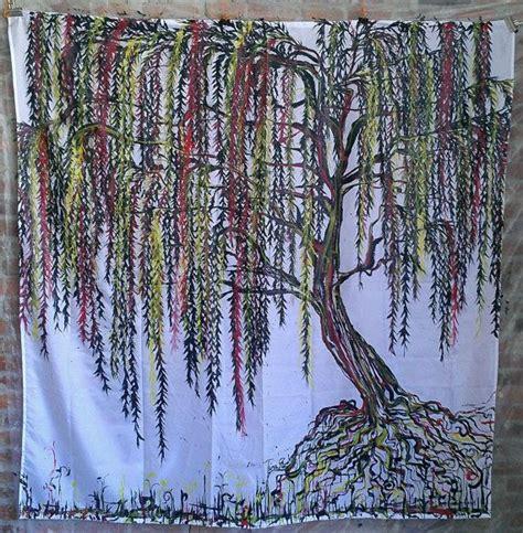hand painted shower curtain original hand painted tree shower curtain