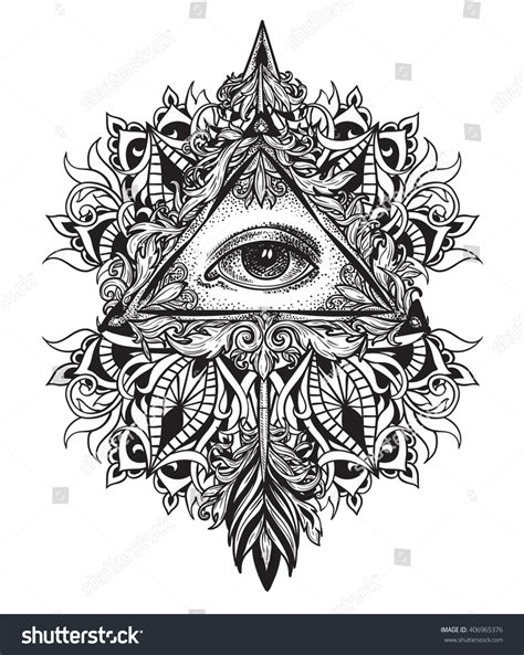 all seeing eye in mandala stock vector more all seeing eye as a symbol of the mystical science of