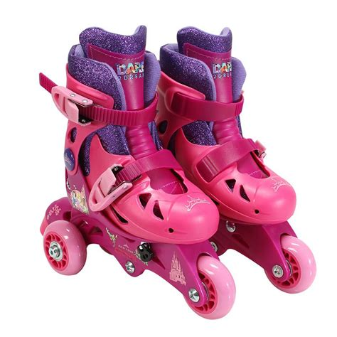 Play Roller Skates playwheels princess glitter junior size 6 9 convertible
