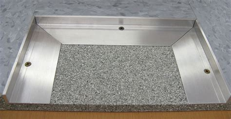 Inset Door Mat by Recessed Floor Mat L Frame Is A Tapered Angle Metal Frame
