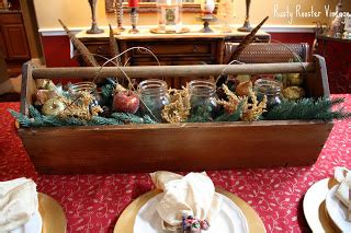 toolbox christmas centrpiece rooster vintage remember my tool box centerpiece